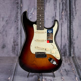 Fender American Elite Stratocaster, Ebony Fingerboard, 3-Color Sunburst, front closeup
