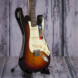 Fender American Elite Stratocaster, Ebony Fingerboard, 3-Color Sunburst, angle