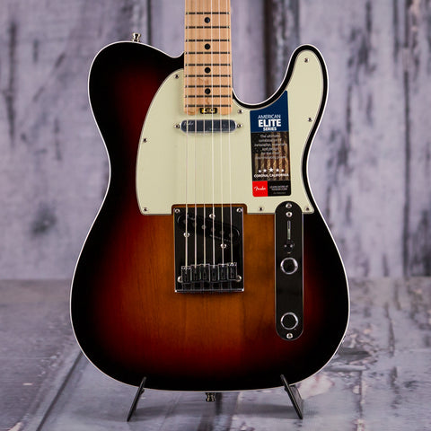 Fender American Elite Telecaster, 3 Color Sunburst, front closeup