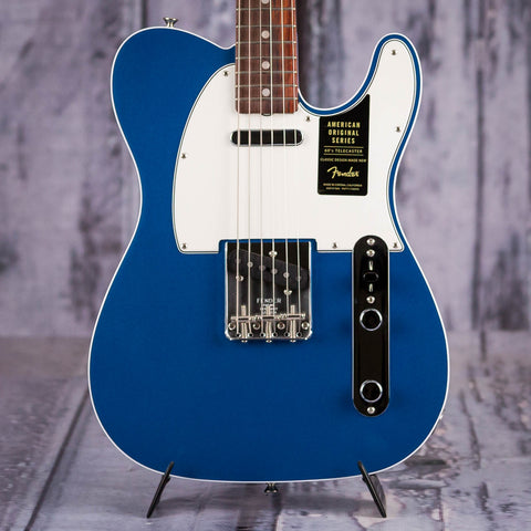 Fender American Original '60s Telecaster Electric Guitar, Lake Placid Blue, front closeup