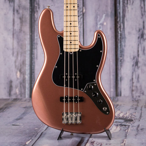 Fender American Performer Series Jazz Bass, Maple Fingerboard, Penny, front closeup