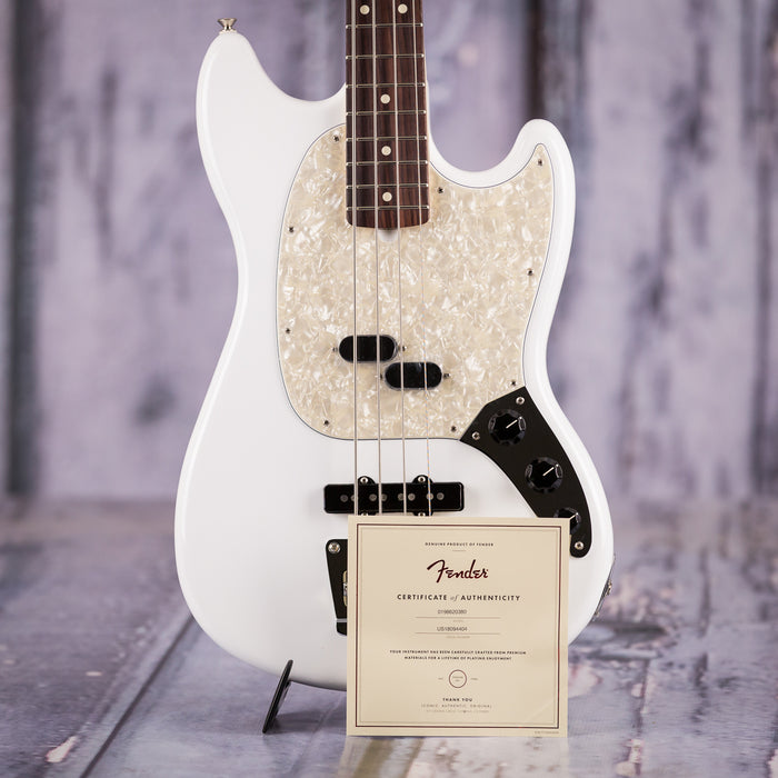 Fender American Performer Mustang Bass, Rosewood, Arctic White