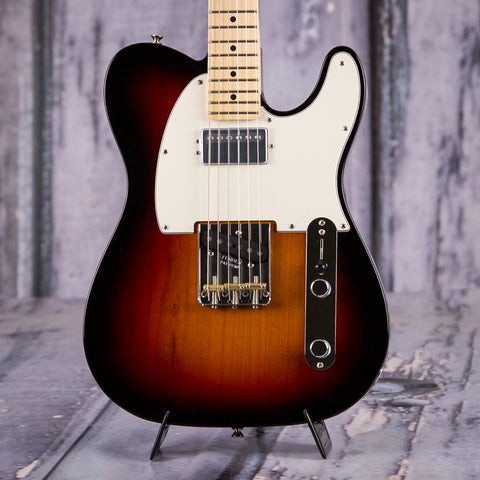 Fender American Performer Series Telecaster Hum, Maple Fingerboard, 3-Color Sunburst, front closeup