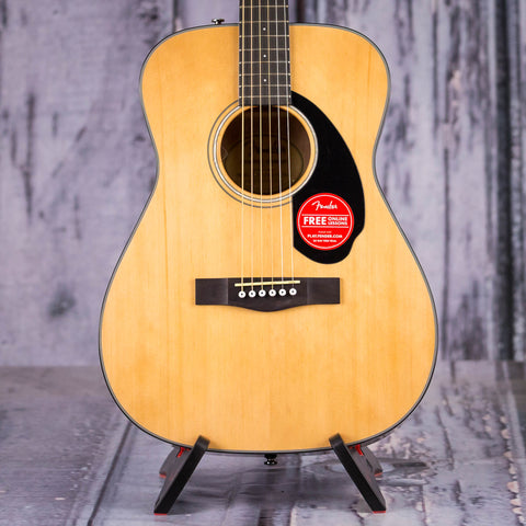 Fender CC-60S Acoustic Guitar, Natural, front closeup