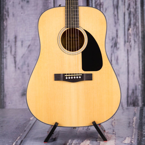 Fender CD-60 Acoustic Guitar, Natural, front closeup