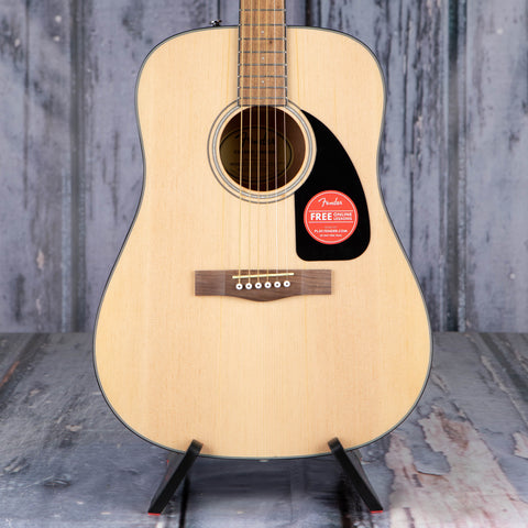 Fender CD-60 Dreadnought V3 Acoustic Guitar, Natural, front closeup