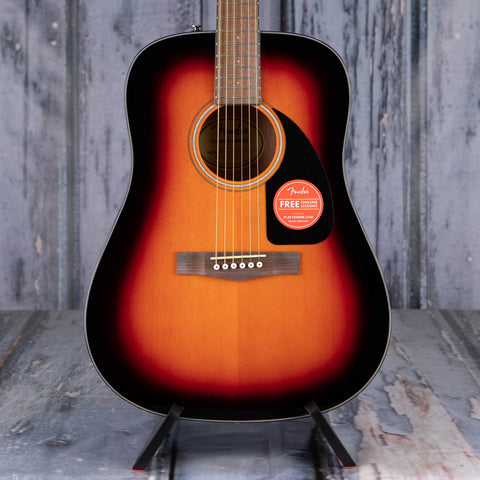 Fender CD-60 Dreadnought V3 Acoustic Guitar, Sunburst, front closeup