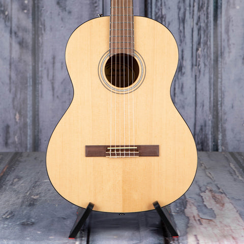 Fender CN-60S Classical Acoustic Guitar, Natural, front closeup