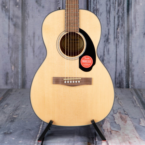 Fender CP-60S Parlor Acoustic Guitar, Natural, front closeup
