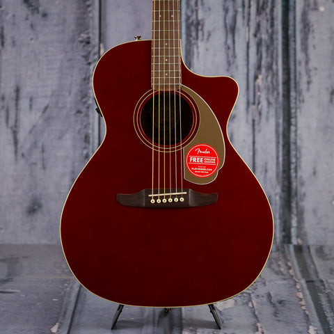 Fender California Series Newporter Player, Candy Apple Red, front closeup
