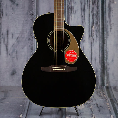 Fender California Series Newporter Player, Jetty Black, front closeup