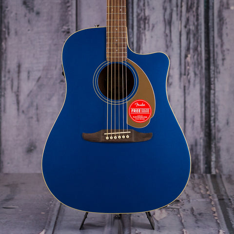 Fender California Series Redondo Player, Belmont Blue, front closeup