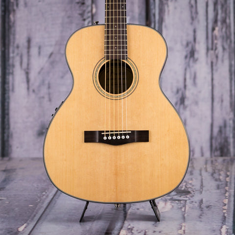 Fender Classic Design Series CT-140SE Acoustic Electric Guitar, Natural, front closeup