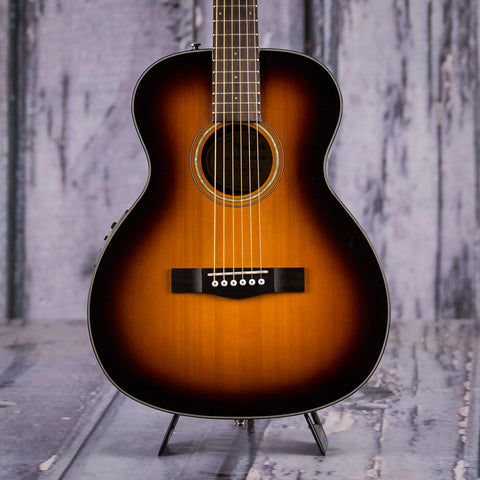Fender Classic Design Series CT-140SE Acoustic Electric Guitar, Sunburst, front closeup