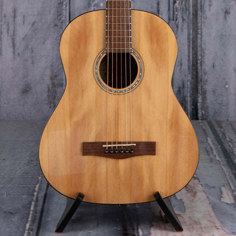 Fender FA-15 3/4 Steel Acoustic Guitar, Natural, front closeup