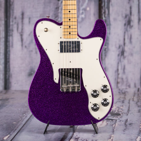 Fender Limited Edition '72 Telecaster Custom, Purple Sparkle, front closeup