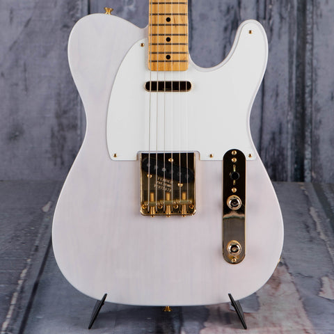 Fender Limited Edition American Original '50s Telecaster Electric Guitar, White Blonde, front closeup