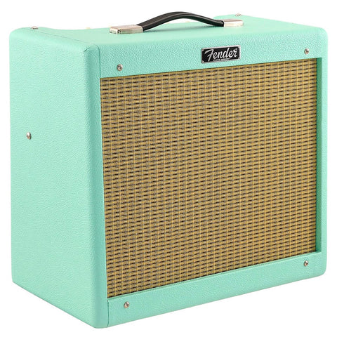 Fender Limited Edition Blues Junior IV Guitar Amplifier, Surf Green, angle