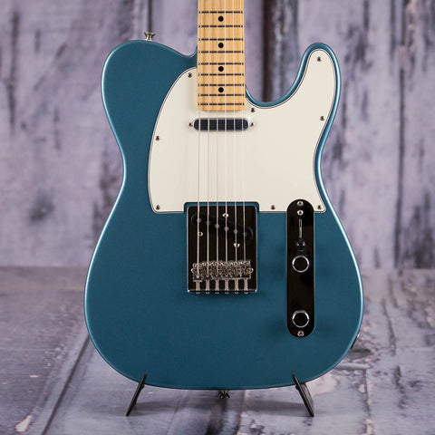 Fender Player Telecaster Electric Guitar, Tidepool, front closeup