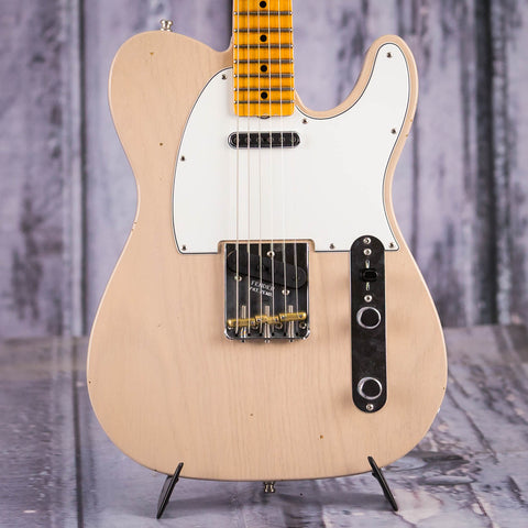 Fender Postmodern Telecaster Journeyman Relic Electric Guitar, 2018, Dirty White Blonde, front closeup