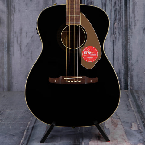 Fender Tim Armstrong Anniversary Hellcat Acoustic/Electric Guitar, Black, front closeup
