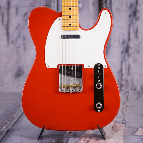 Fender Vintera '50s Telecaster Electric Guitar, Fiesta Red, front closeup