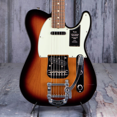 Fender Vintera '60s Telecaster Bigsby Electric Guitar, 3-Color Sunburst, front closeup