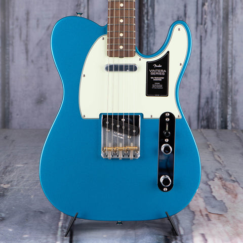 Fender Vintera '60s Telecaster Modified Electric Guitar, Lake Placid Blue, front closeup