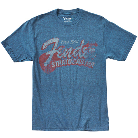 Fender Since 1954 Strat T-Shirt, Blue, Large