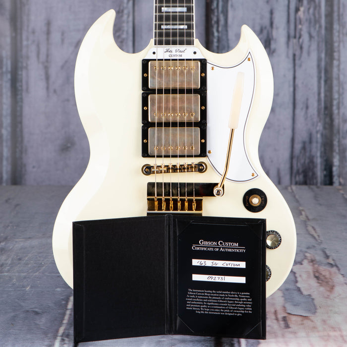 Gibson Custom Shop 1963 Les Paul SG Custom Reissue w/ Maestro Vibrola, Classic White