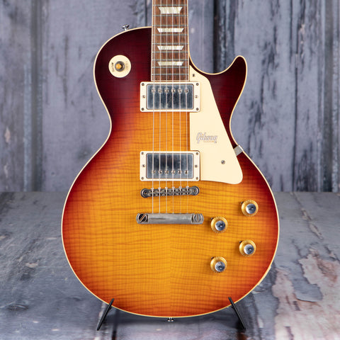 Gibson Custom Shop 60th Anniversary 1960 Les Paul Standard V3 VOS Electric Guitar, Washed Bourbon Burst, front closeup