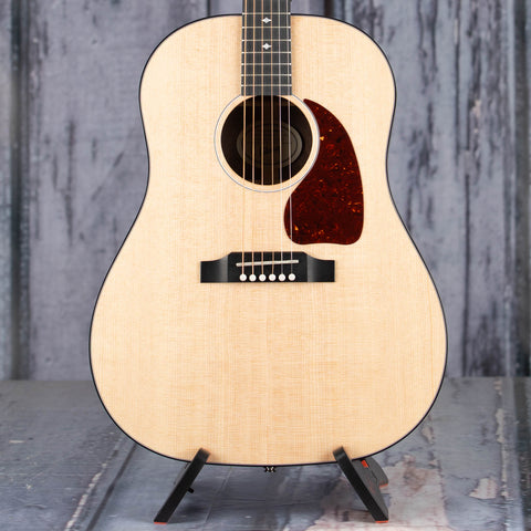Gibson Montana G-45 Standard Acoustic/Electric Guitar, Antique Natural, front closeup