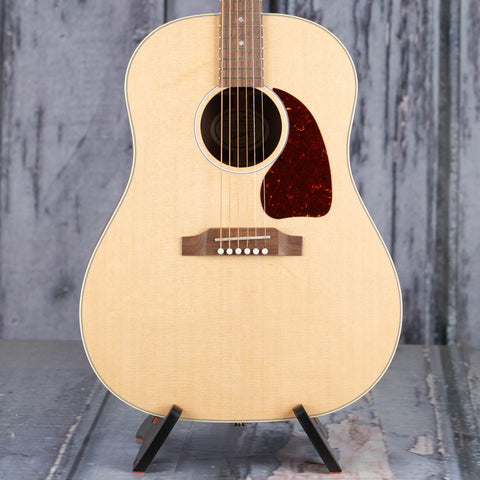 Gibson Montana G-45 Studio Acoustic/Electric Guitar, Natural, front closeup