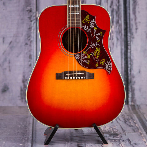 Gibson Montana Hummingbird Acoustic/Electric Guitar, 2018, Vintage Cherry Sunburst, front closeup