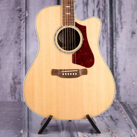 Gibson Montana Hummingbird Supreme Acoustic/Electric Guitar, 2018, Antique Natural, front closeup