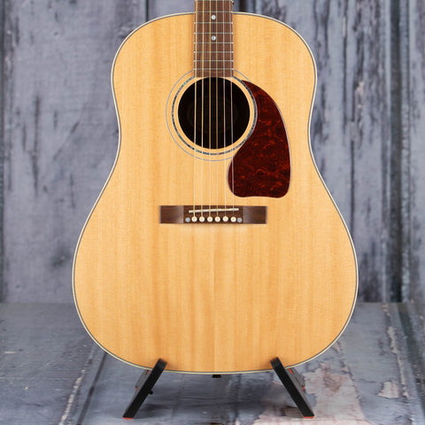 Gibson Montana J-15 Acoustic/Electric Guitar, Antique Natural, front closeup