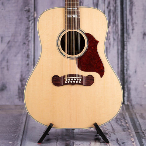 Gibson Montana Songwriter 12-String Acoustic/Electric Guitar, 2019, Antique Natural, front closeup