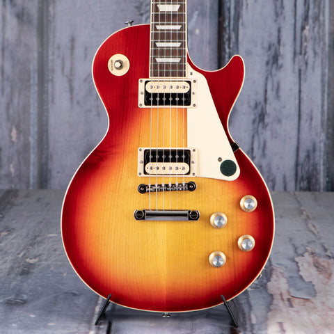 Gibson USA Les Paul Classic Electric Guitar, Cherry Sunburst, front closeup