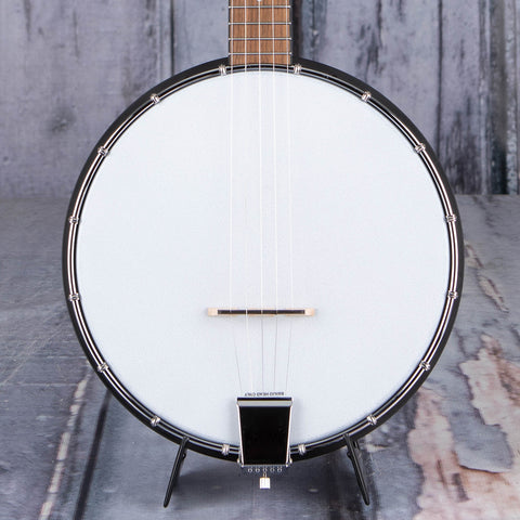 Gold Tone AC-1 Acoustic Composite Banjo, Satin Black, front closeup