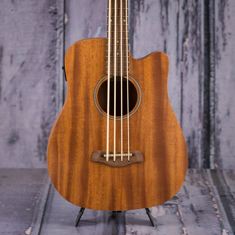 Gold Tone M-Bass25 Acoustic Electric Microbass, Natural, front closeup