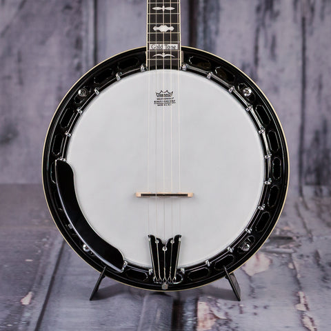 Gold Tone OB-150 Orange Blossom Banjo With Case, front closeup