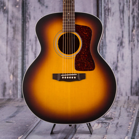 Guild F-40E Jumbo Acoustic Electric Guitar, Antique Sunburst, front closeup