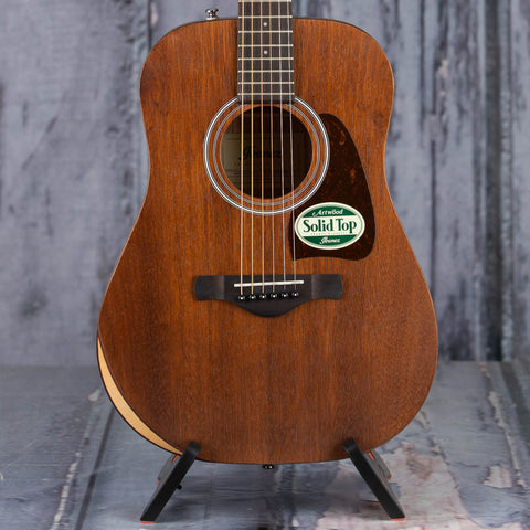 Ibanez AW54JR Acoustic Guitar, Open Pore Natural, front closeup