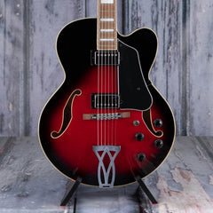 Ibanez Artcore AF75 Hollowbody, Transparent Red Sunburst