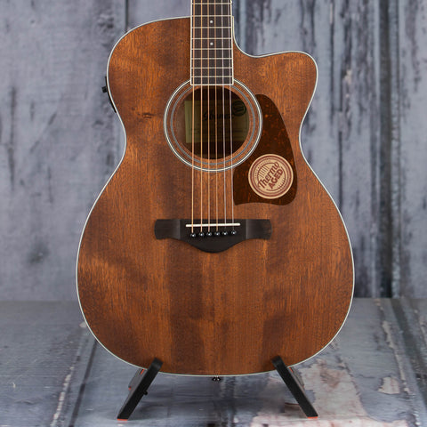 Ibanez Artwood AC340CE Acoustic/Electric Guitar, Open Pore Natural, front closeup