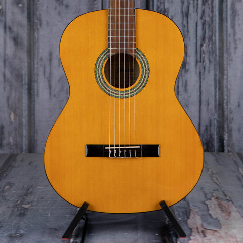 Ibanez GA3 Classical Acoustic Guitar, Natural, front closeup