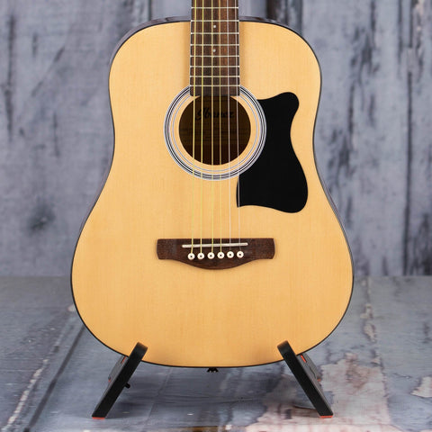 Ibanez IJV30 Mini Dreadnought Jam Pack Acoustic Guitar, Natural High Gloss, front closeup