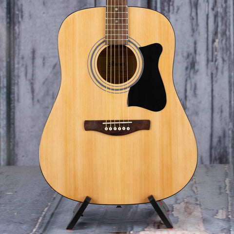 Ibanez IJV50 Dreadnought Jam Pack Acoustic Guitar, Natural High Gloss, front closeup
