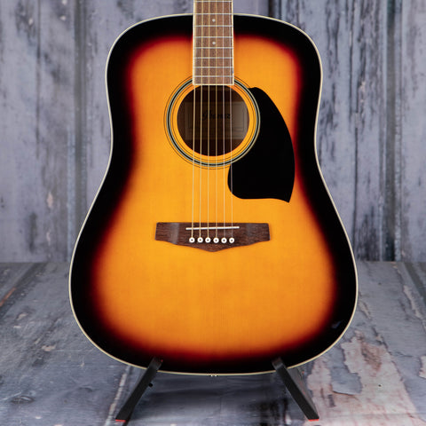 Ibanez PF15 Performance Dreadnought Acoustic Guitar, Vintage Sunburst, front closeup