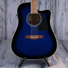 Ibanez PF15ECE Acoustic/Electric, Transparent Blue Sunburst